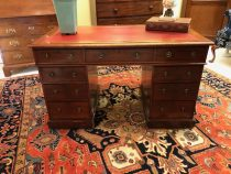 19th C English Chippendale Leather Top Desk     SOLD
