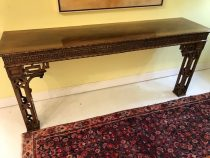 Mid 20th c English Mahogany Chinese Chippendale Console