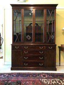 Henkle Harris Mahogany Breakfront/Bookcase