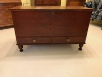 18th c Painted  Pine American Chest